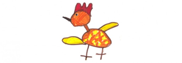 The Art Barn Chick by a former student, age 5